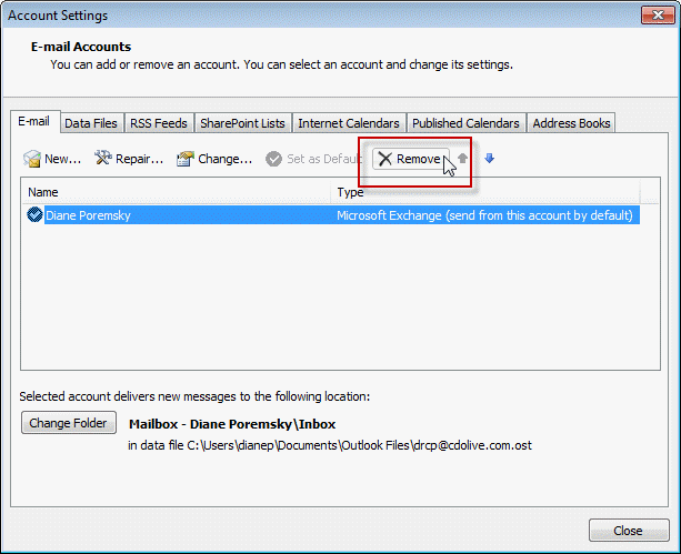 Create A New Profile In Outlook Addingrecreating A Mail Profile Howto Outlook Contacts Are Missing When You Click The To Button
