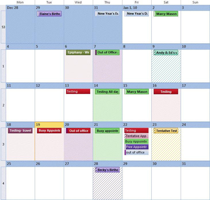Calendar Free Busy Command How To Use Outlooks Command Line Switches Outlooks Calendar Looks Like A Patchwork Quilt
