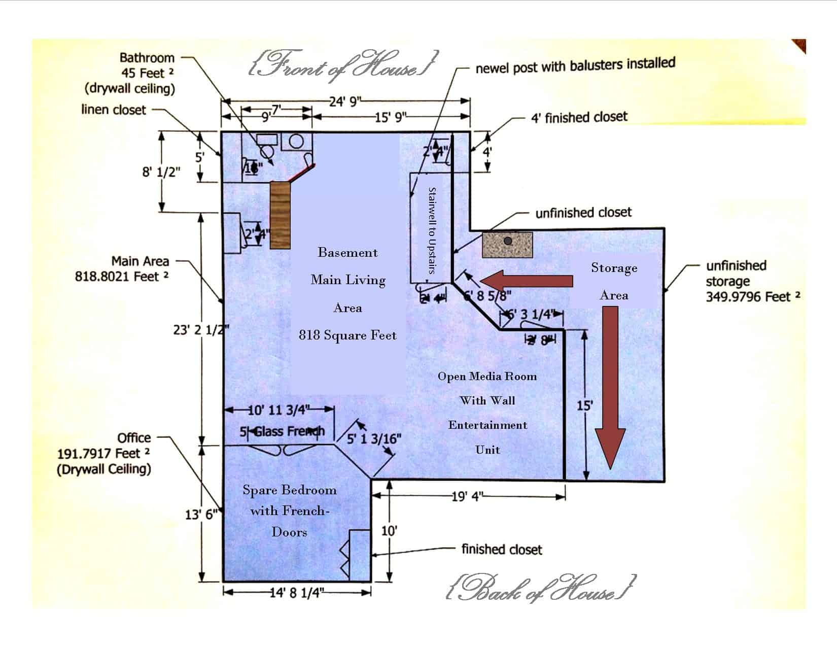 Basement Remodeling Floor Plans Basement Remodel Floor Plan With Exposed Ductwork