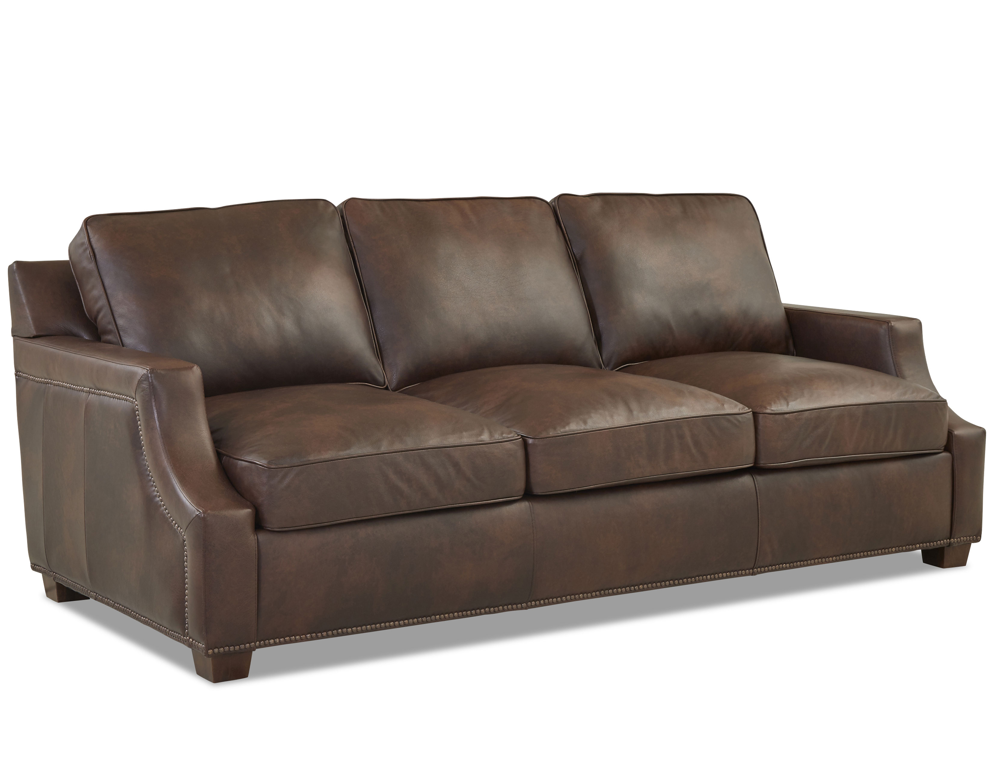 Kash Leather Sofa With Down Cushions Made To Sofas And Sectionals