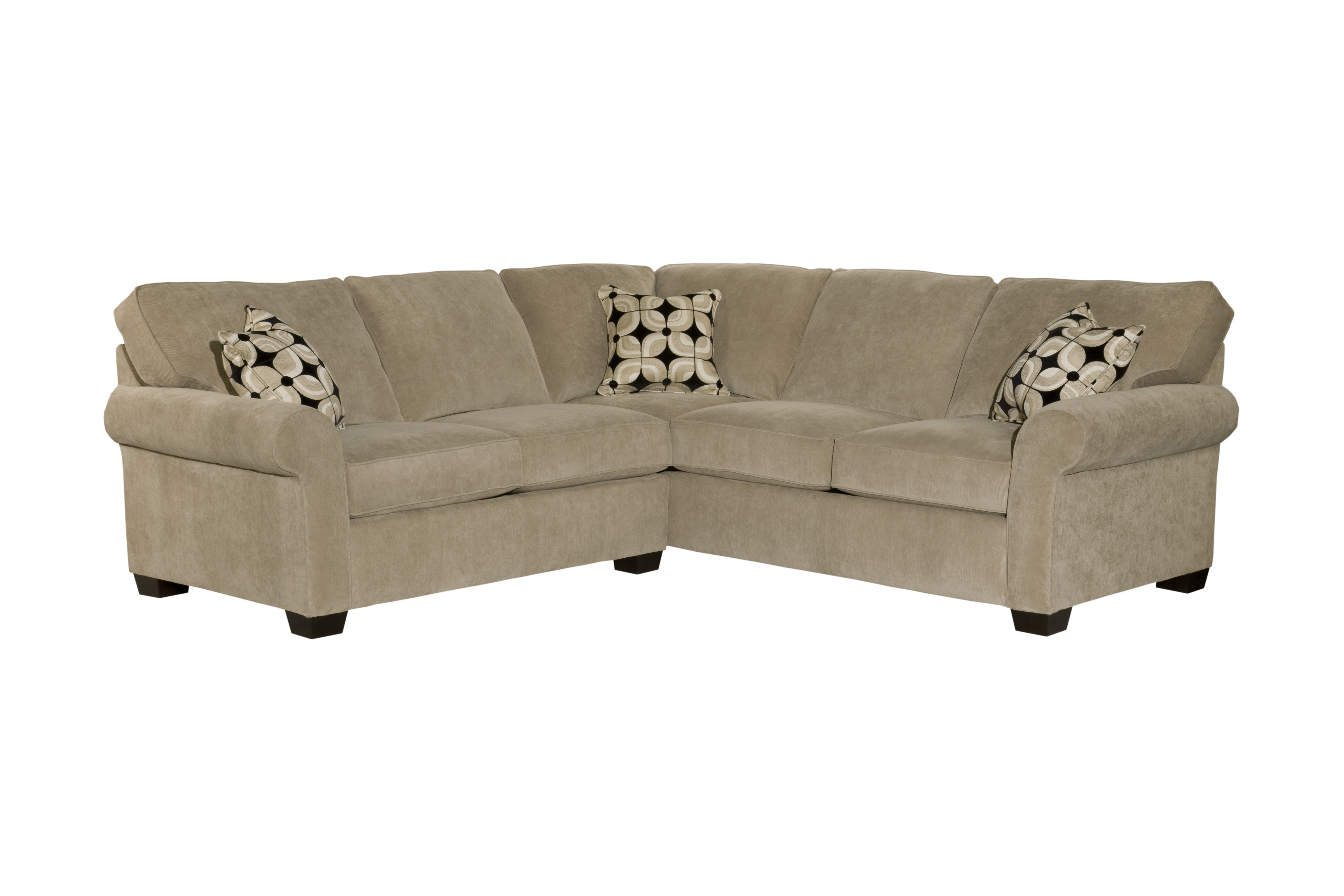 Broyhill Brown Corduroy Sofa Ethan 6628 Sectional Customize 350 Sofas And Sectionals