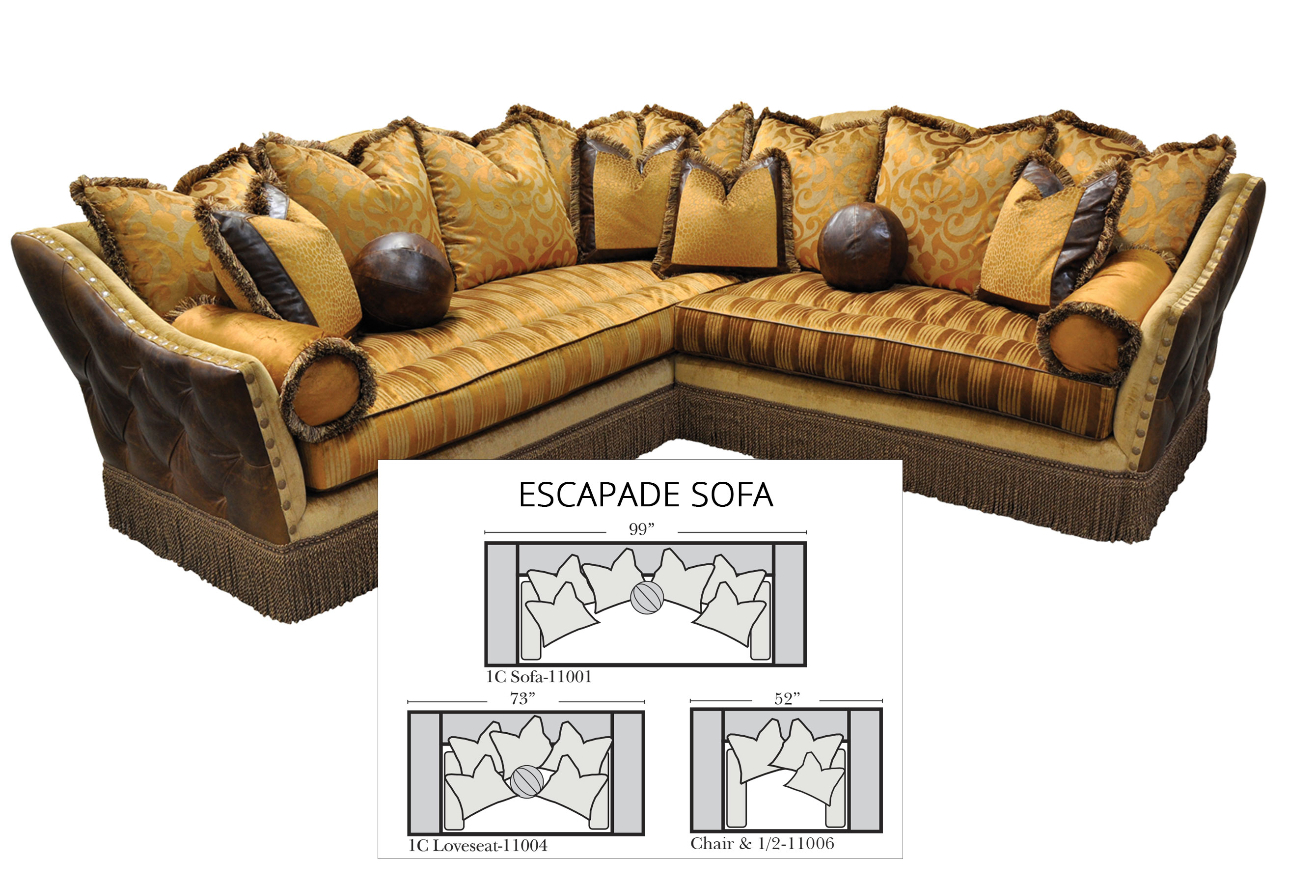 Escapade Sofa Collection All Leather Sofas And Sectionals