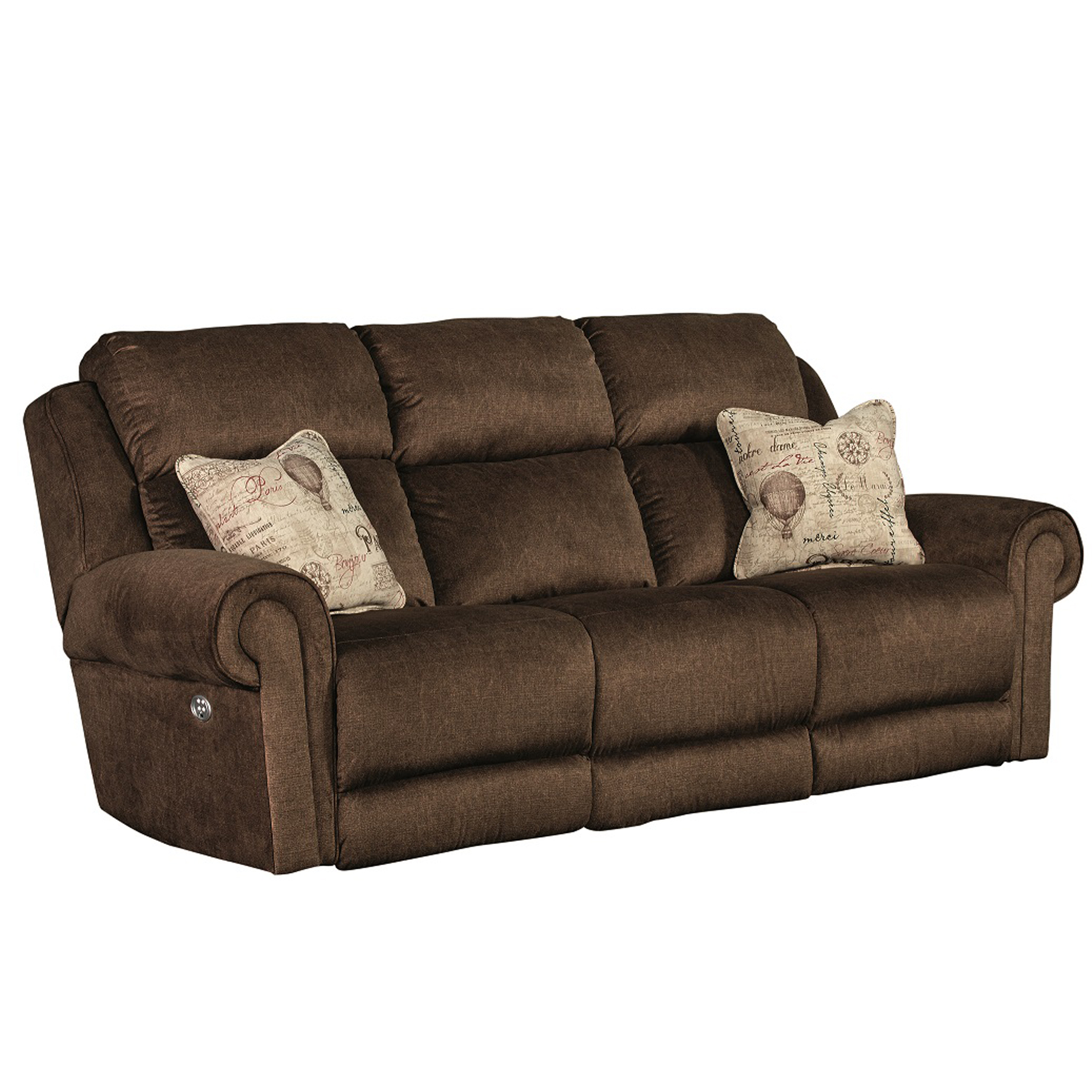 Futon Factory Paris Canyon Ranch Double Reclining Sofa W Power Sofas And Sectionals