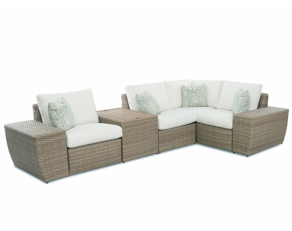 Rosa Sofa Mod Rosa Woven Arm Outdoor Modular Sectional Sofas And Sectionals