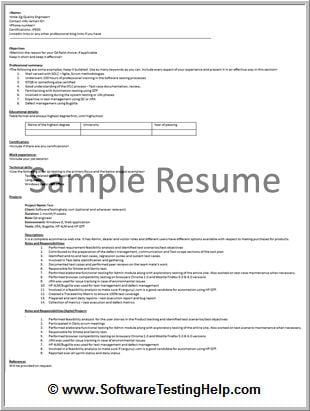 Perfect Software Testing Resume Guide (with Software Tester Resume - software testing sample resume