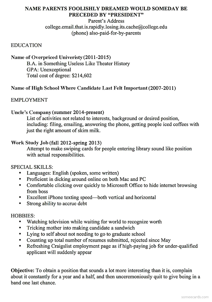 A Resume Template For Every Unemployed Recent College Grad - recent college grad resume