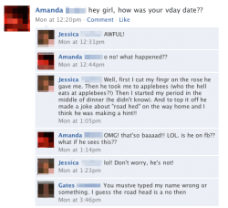 33 examples of Valentine's Day gone horribly wrong on Facebook.