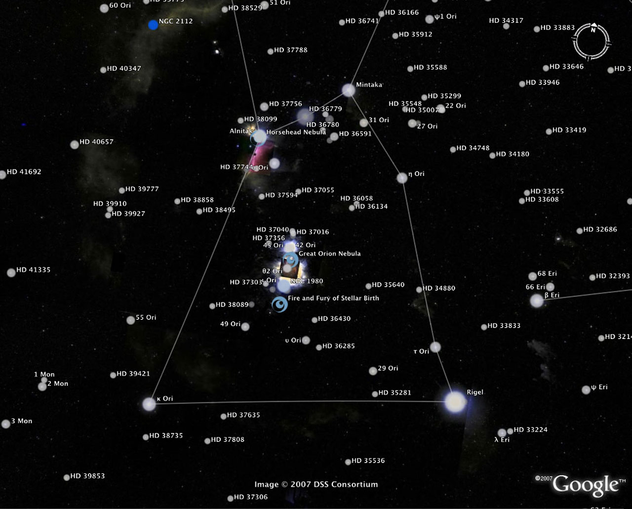 Make Your Own 3d Name Wallpaper The Sky In Google Earth Esa Hubble