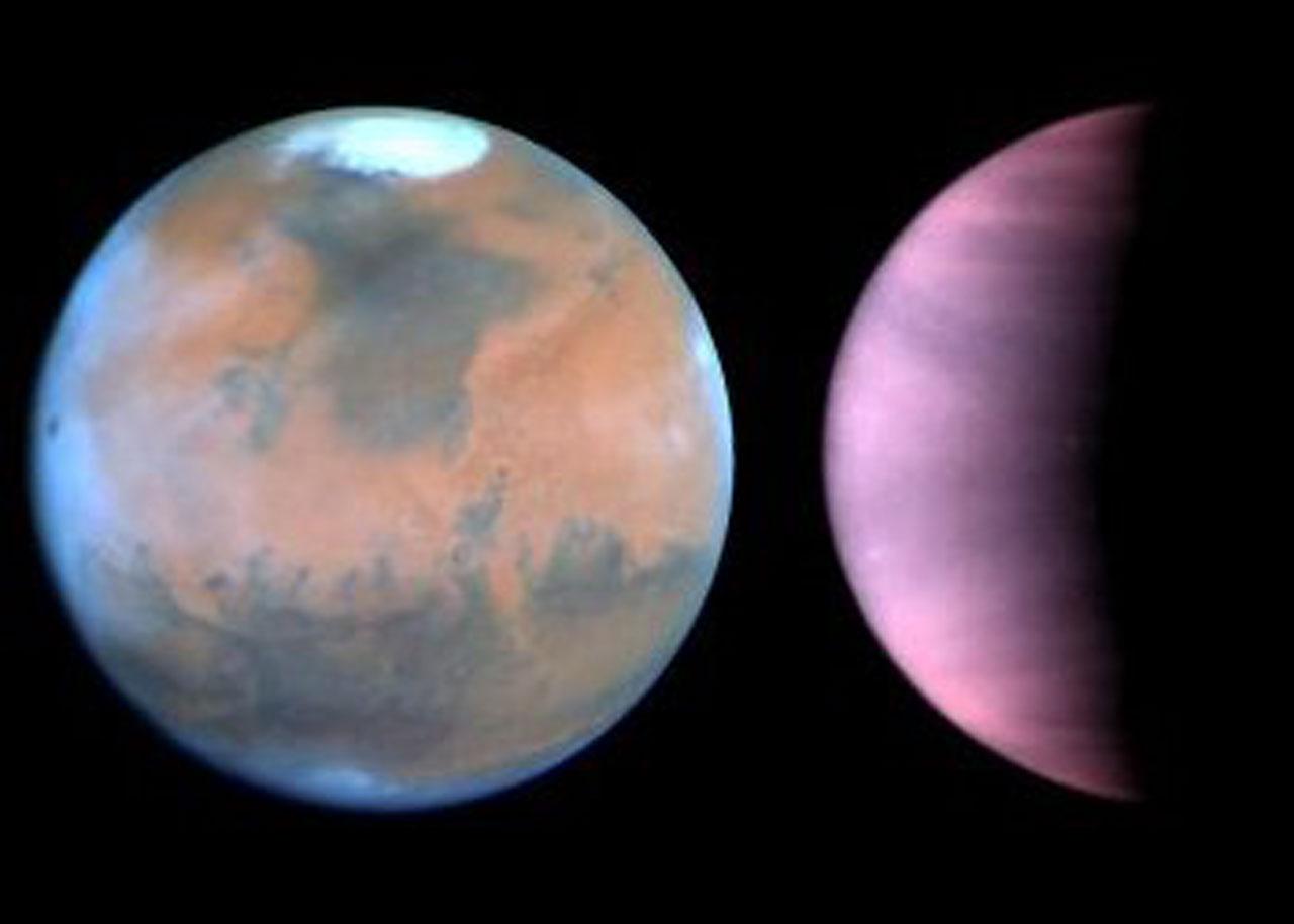 The Pet Girl Of Sakurasou Wallpaper Hubble Monitors Weather On Mars And Venus Esa Hubble