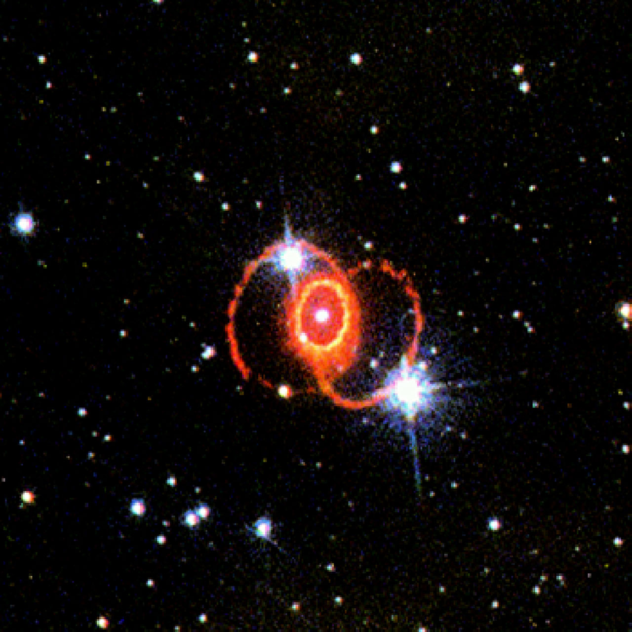 Solar System 3d Wallpaper Stis Chemically Analyzes The Ring Around Sn 1987a Esa Hubble
