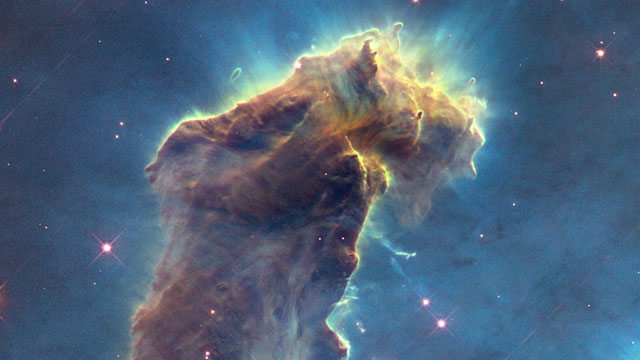 3d Eagle Wallpaper Hubblecast 82 New View Of The Pillars Of Creation Esa