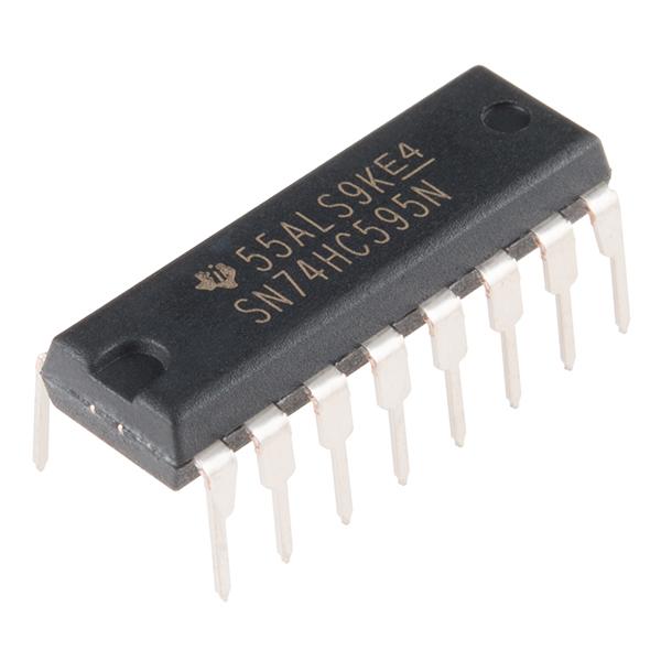 Shift Register 8-Bit - SN74HC595 - COM-13699 - SparkFun Electronics