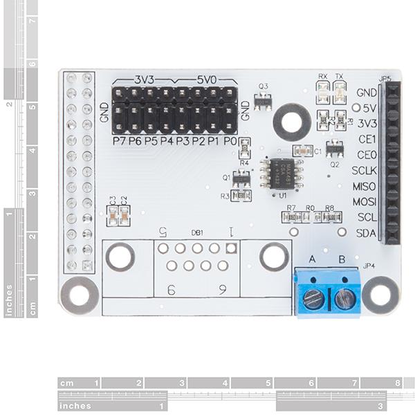 RS485 Shield V3 - Raspberry Pi - DEV-13706 - SparkFun Electronics