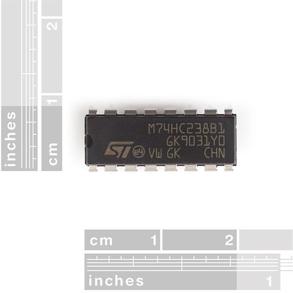 74HC238 - 3 to 8 Line Decoder - COM-09577 - SparkFun Electronics