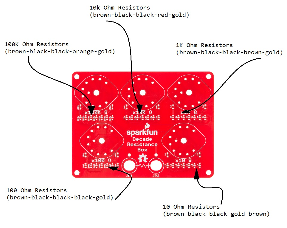 Decade Resistance Box Hookup Guide - learnsparkfun