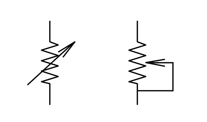 circuit diagram variable resistor