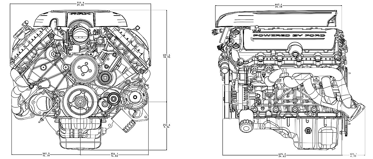 v8 engine oil diagram