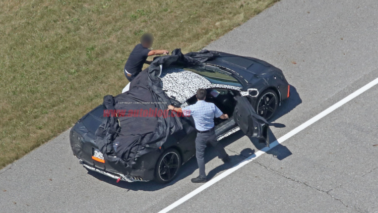 Snagged! Latest Mid-Engine Corvette Pics - copy blueprint engines how to