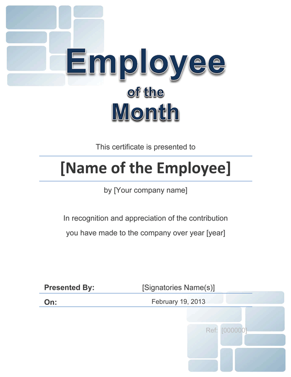 template for employee of the month