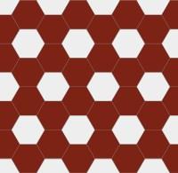 Hexagon floor tiles 15 x 15 cm red/white - Winckelmans