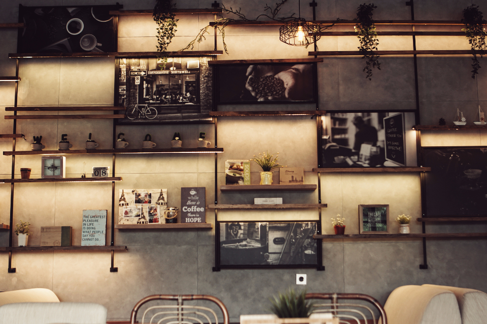 Vintage Car Design Wallpaper Free Photo Of Decor Coffee Shop Stocksnap Io