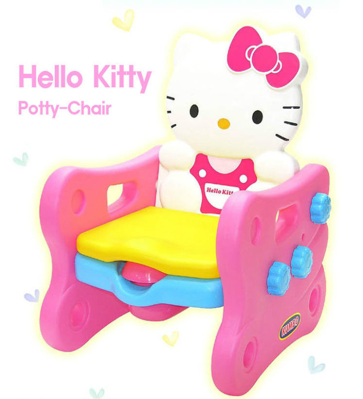 Hello Kitty / Bear Potty Trainer Multipurpose Chair with Music - hello kitty potty