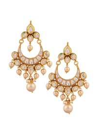 Yosshita and Neha | Pretty Kundan Chandelier Earrings ...