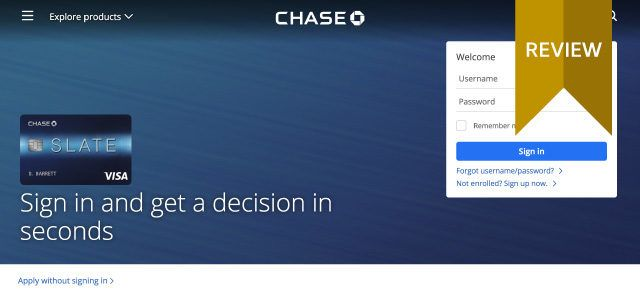 Chase Slate Review A Cheap Way to Pay Off Credit Card Debt - payoff credit card loan