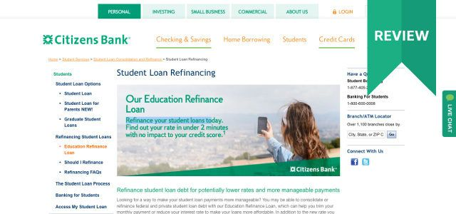 Citizens Bank Student Loan Refinance Review Student Loan Hero