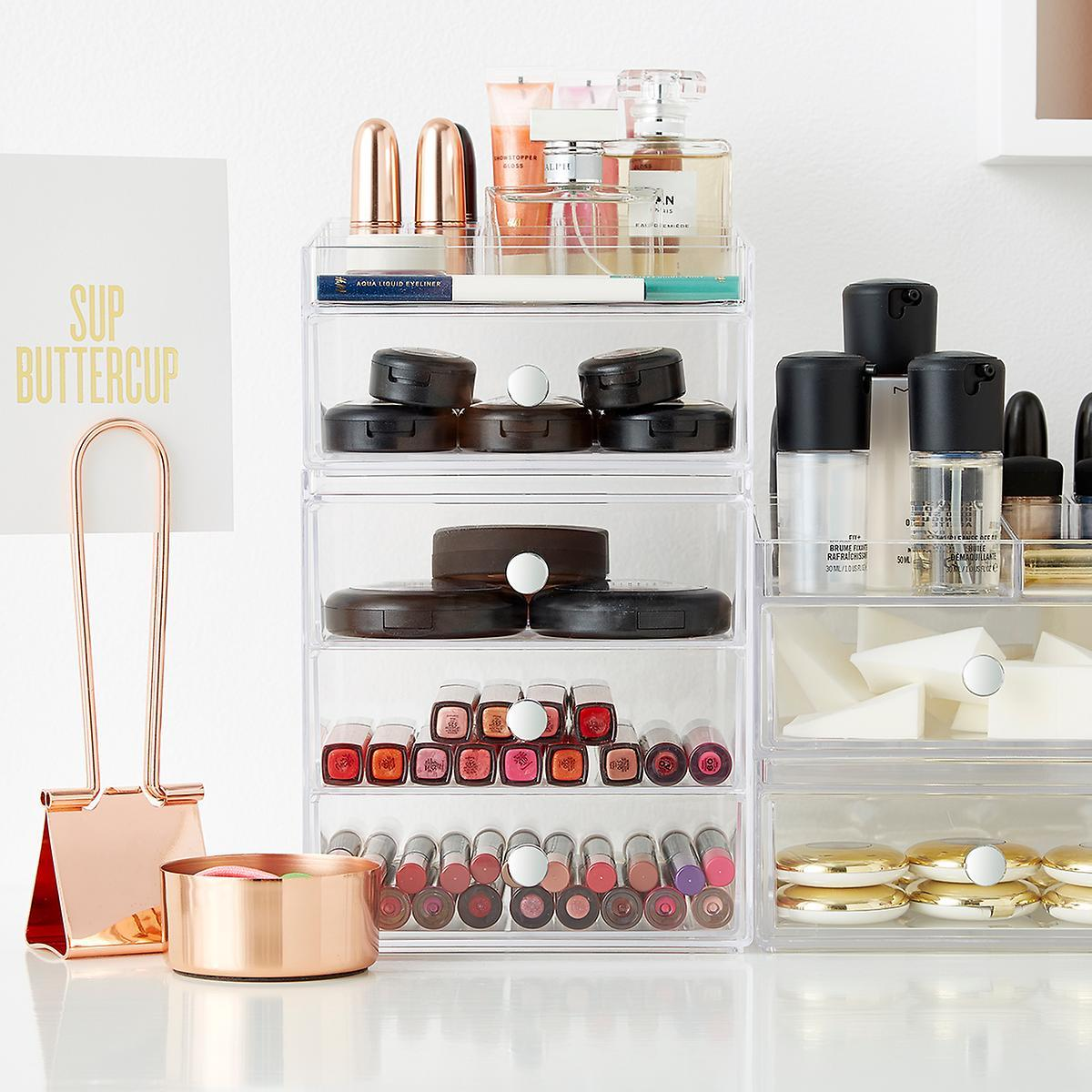 Makeup Storage Containers 11 Container Store Products That Will Change Your Life