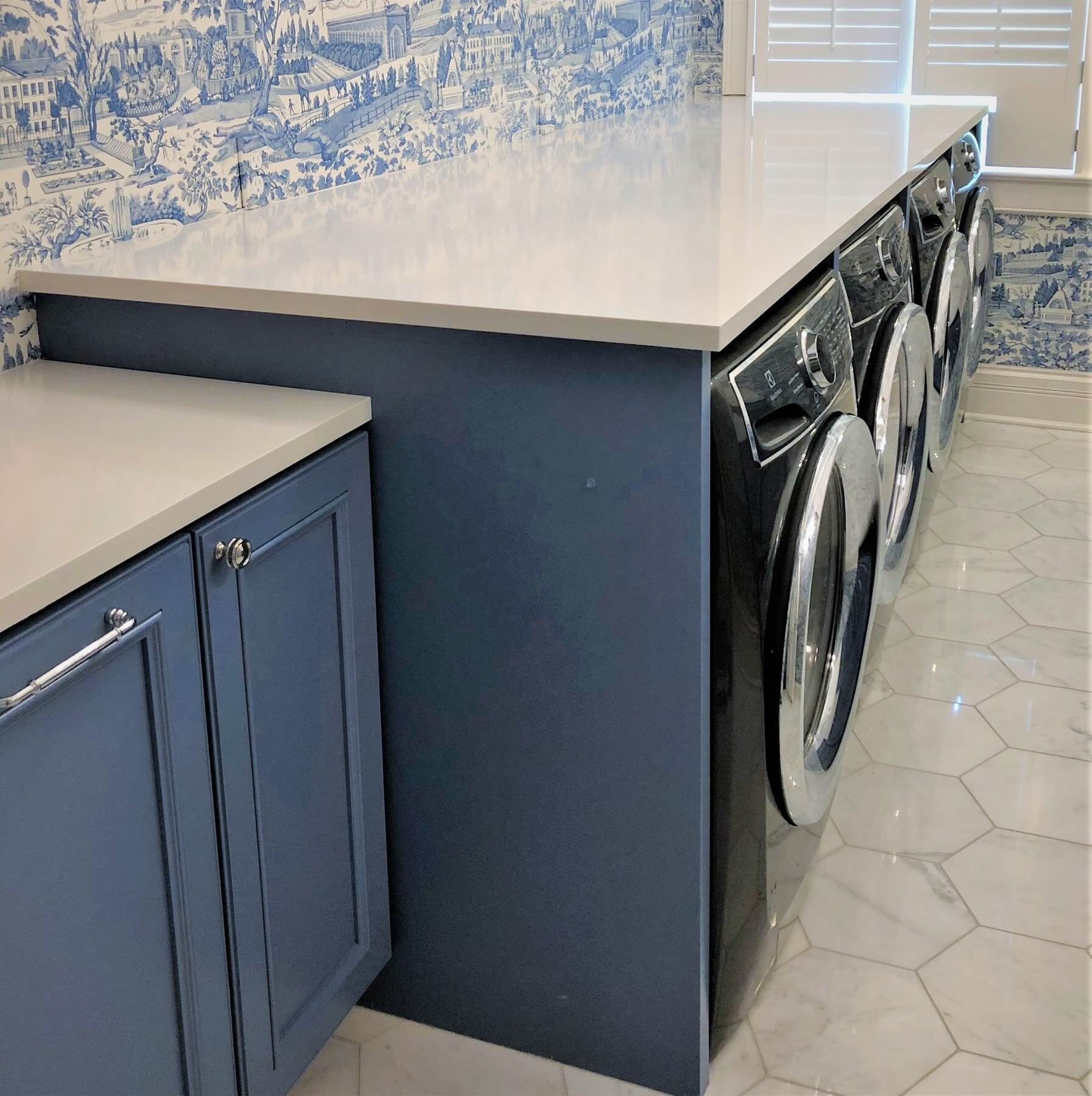 Laundry Room Countertop Material Amazing Spaces Smart Storage Solutions We Love Styleblueprint