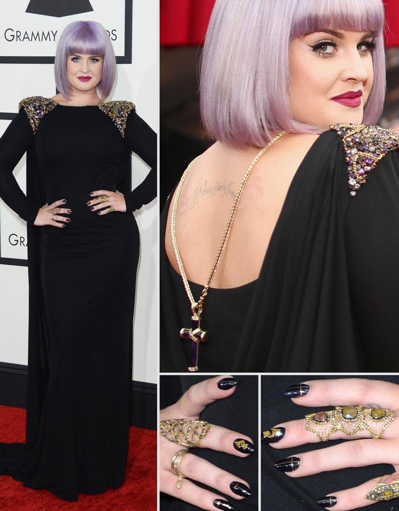 Kelly osbourne 2014 grammy awards hair nails jewelry