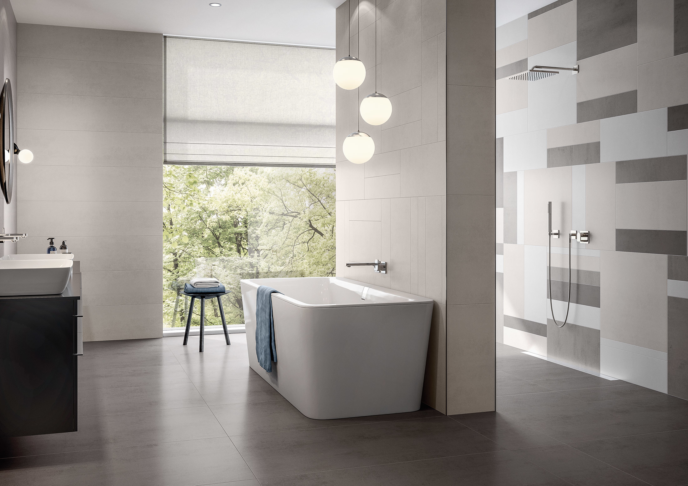 Badezimmer Greige Pure Line By Villeroy And Boch Tiles Stylepark