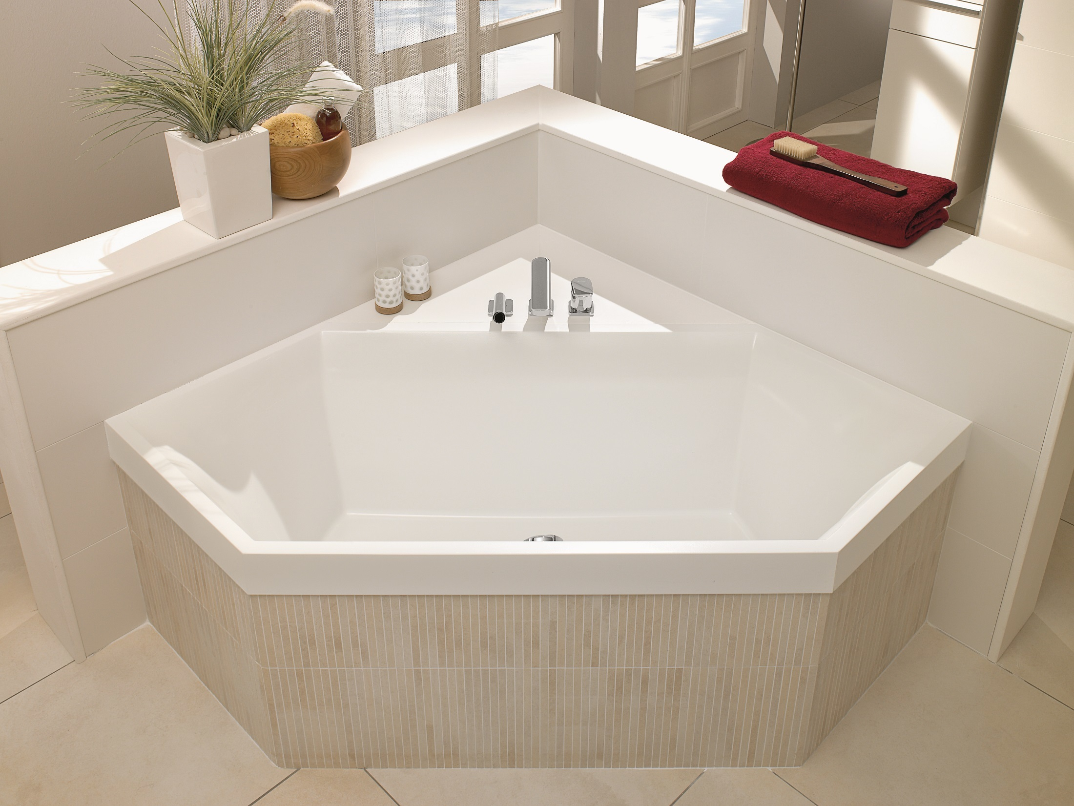 Badewanne Quaryl Badewanne Hexagonal Squaro Von Villeroy And Boch Bad