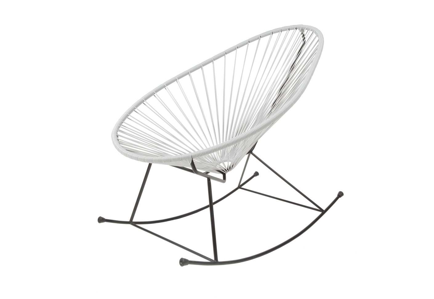 Mexico Chair Schaukelstuhl Acapulco Chair Rocking Gris By Acapulco Design Stylepark