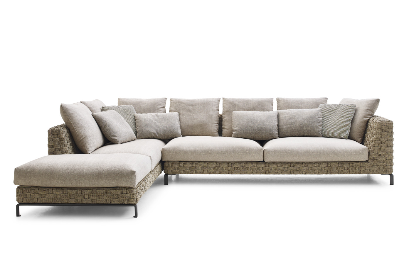 Outdoor Ecksofa Ray Outdoor Natural Ecksofa Von B Andb Italia Stylepark