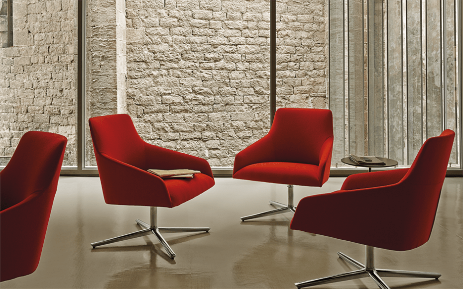 Alya Lounge Chair With Four Star Swivel Base Low Back By Andreu World Stylepark