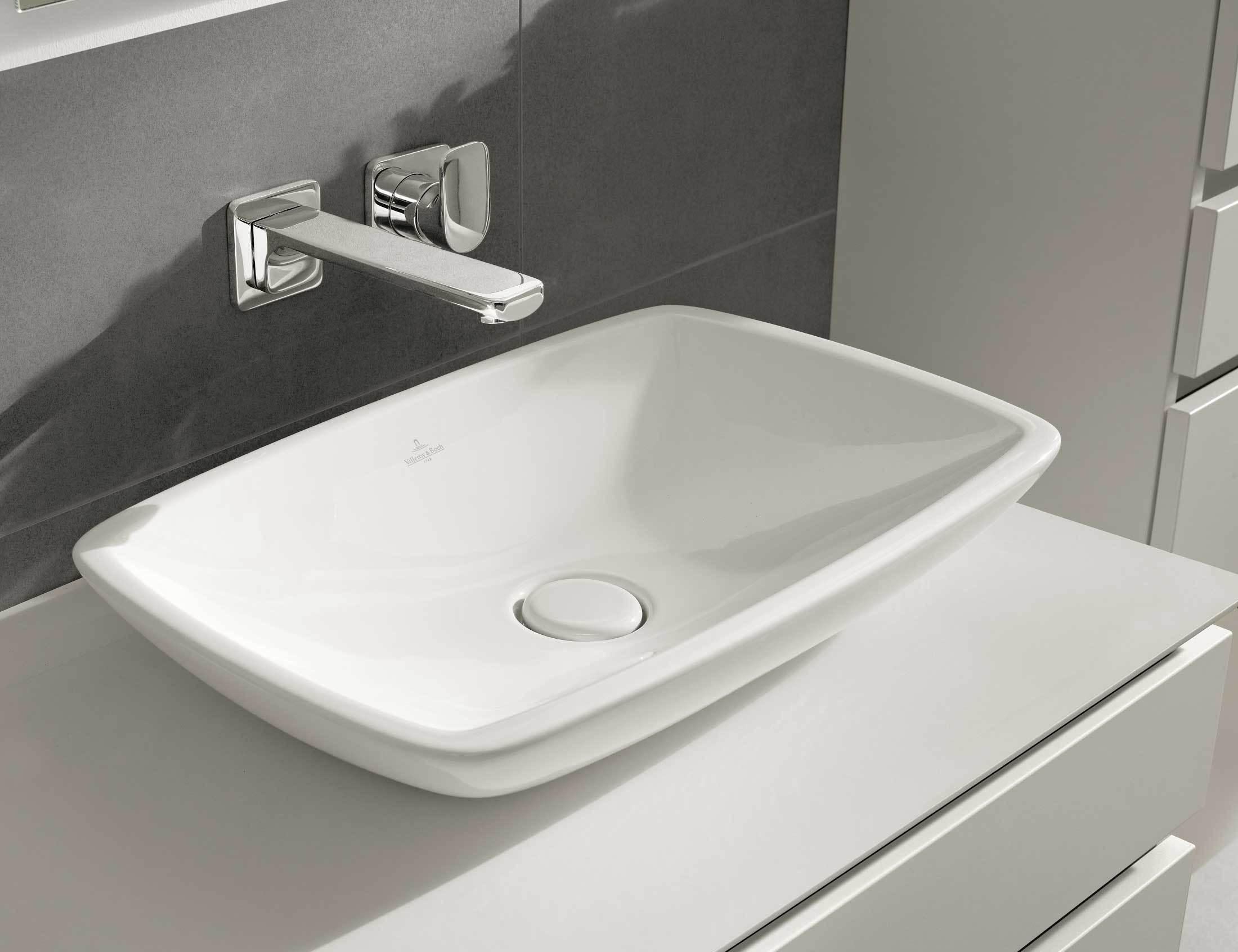 Surface Mounted Washbasin Square Loop Friends By Villeroy Boch Bath Wellness Stylepark