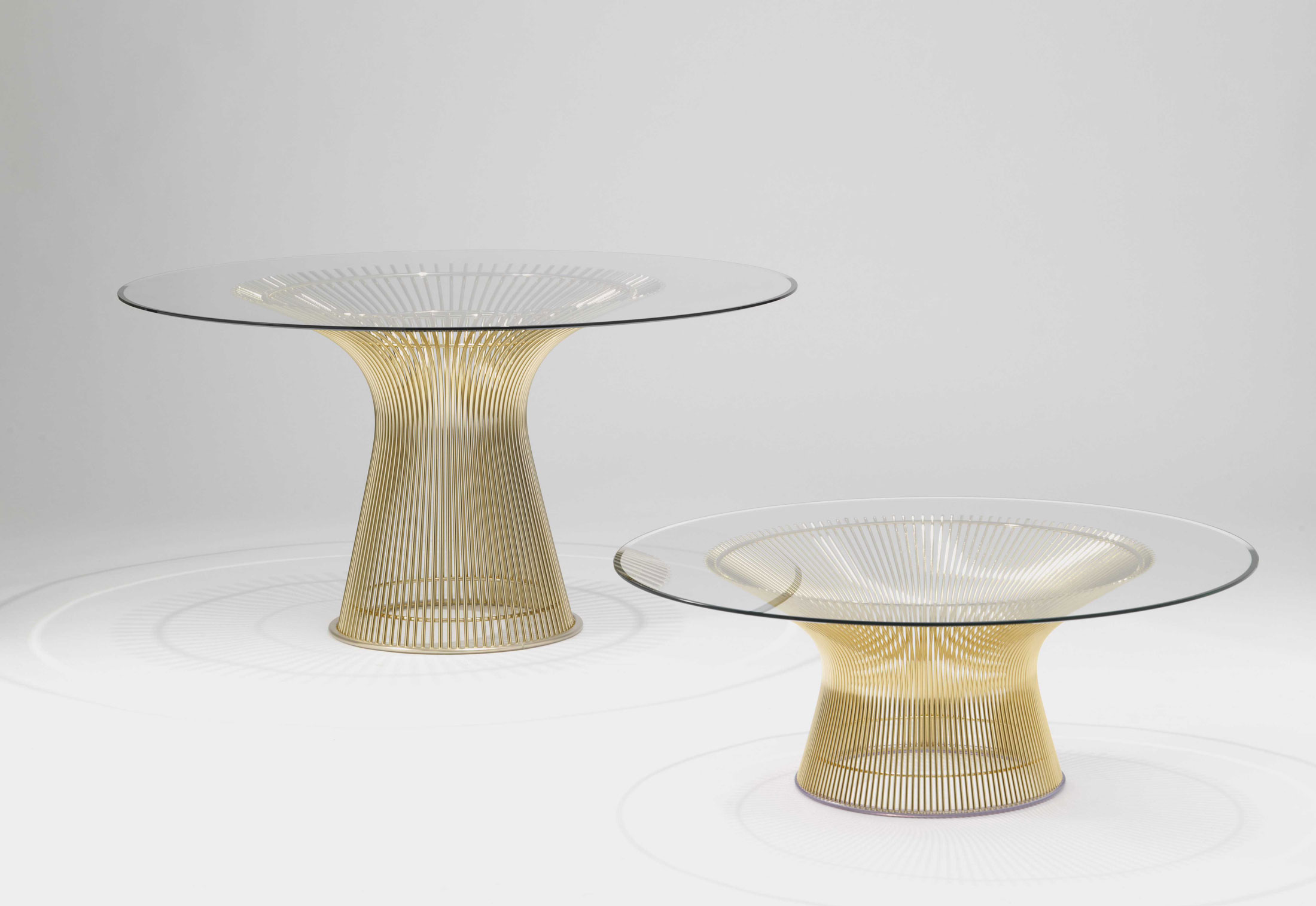 Roller Couchtisch Champ Ii Platner Coffee Table Gold By Knoll Stylepark
