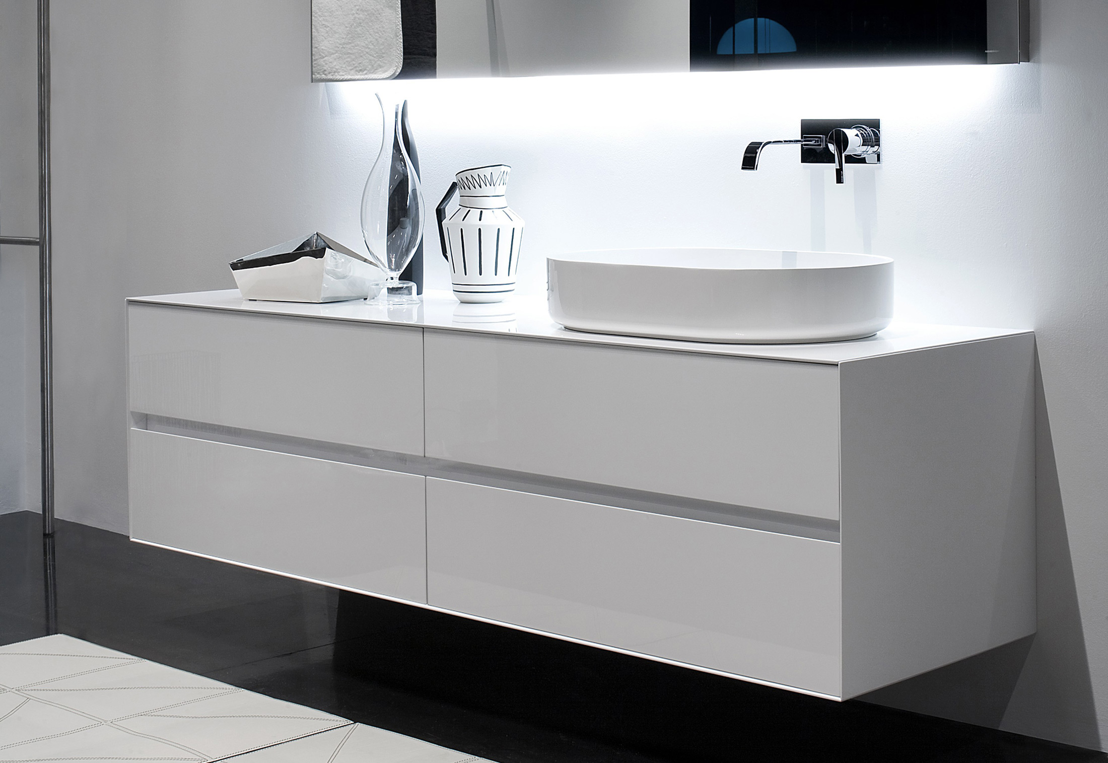 Antonio Lupi Badewanne Antonio Lupi White Top With Integrated Under Counter Wash Basin In