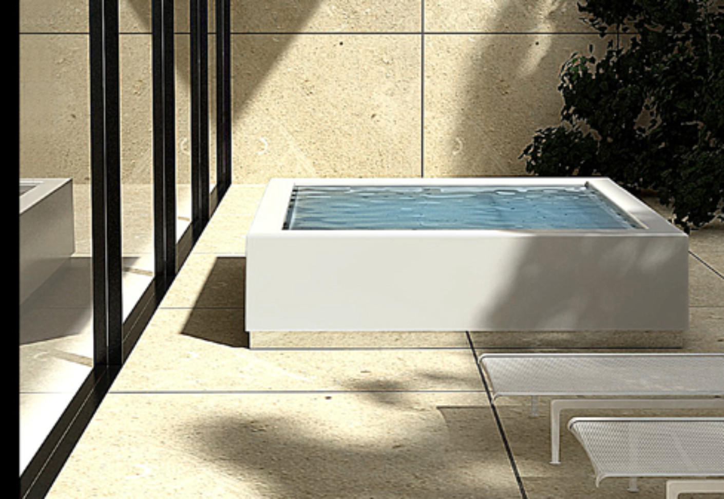 Mini Pool Terrasse Quadrat Minipool By Kos Stylepark