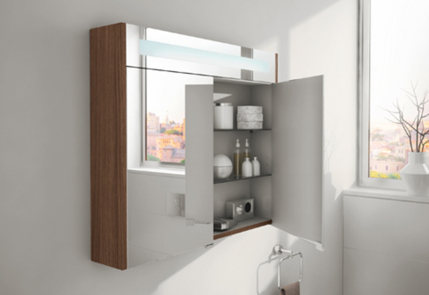 Mirrored Bathroom Cupboard S20 Mirror Cabinet By Vitra Bathroom Stylepark