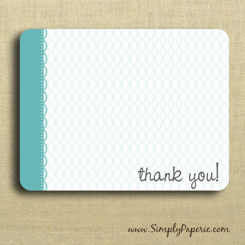Thank You! Greeting Notecards - Simply Paperie