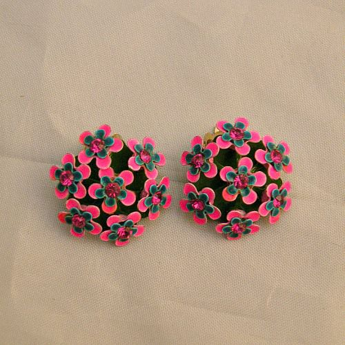 60s Pretty Posies Flower Earrings