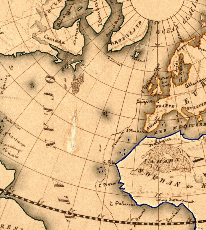 Old World Map antique 1839 - OLD MAPS AND VINTAGE PRINTS