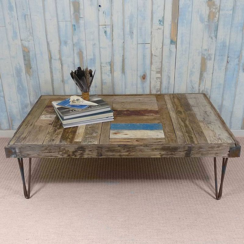 Hairpin Couchtisch Whale Wharf Driftwood Coffee Table - Nautilus Design