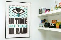 Typography print Retro poster Wall decor - Tears in Rain ...