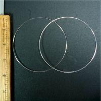 Silver plated 4 inch hoop earrings - Ickynicks Jewelry ...