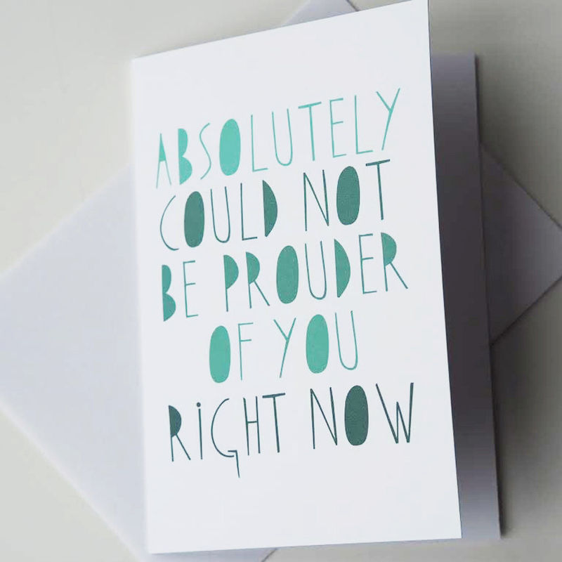Graduation Card - Well Done Card - I\u0027m Proud of You Card - Exam