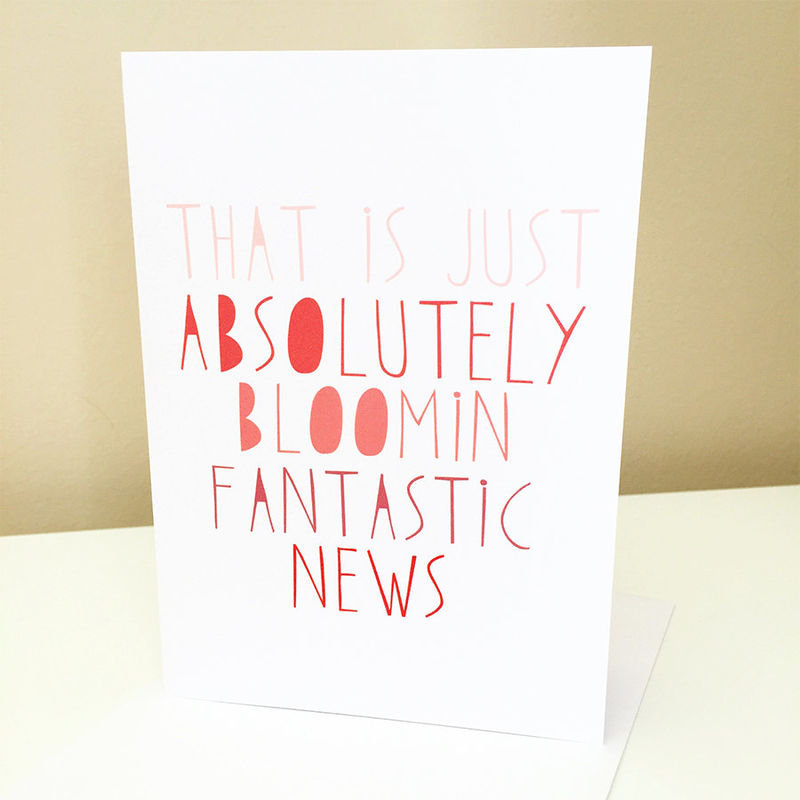 Congratulations Card - Well Done Card - Fantastic News Card - New